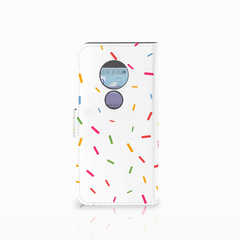 Motorola Moto G6 Play Book Cover Donut Roze