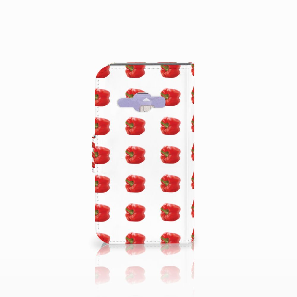 Samsung Galaxy J1 2016 Book Cover Paprika Red
