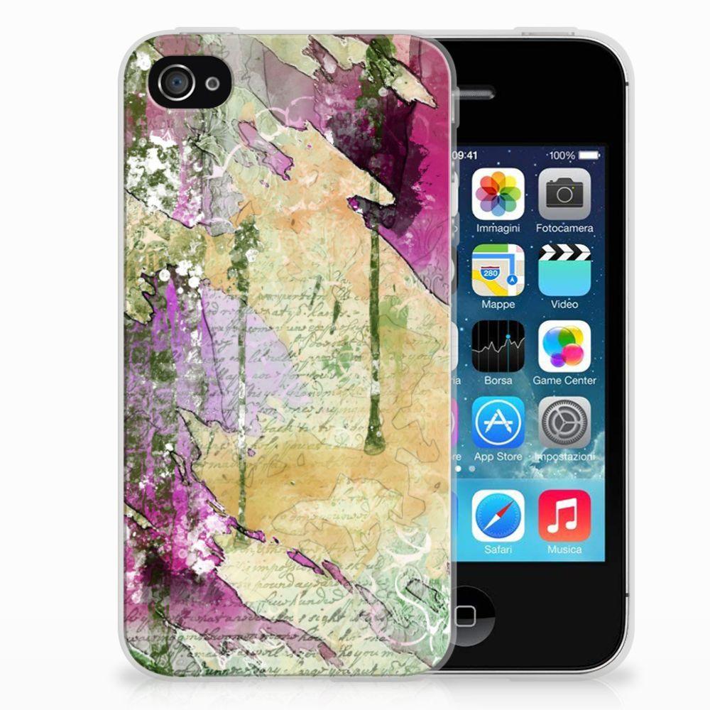 Hoesje maken Apple iPhone 4 | 4s Letter Painting