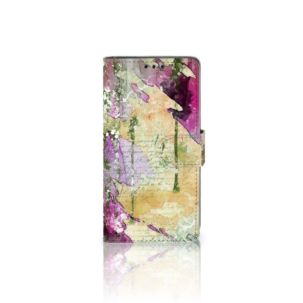 Sony Xperia Z5   Z5 Dual Uniek Boekhoesje Letter Painting