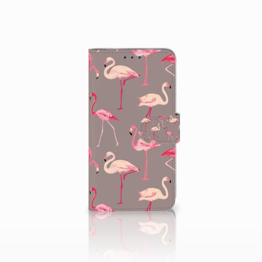 Motorola Moto E4 Plus Uniek Boekhoesje Flamingo