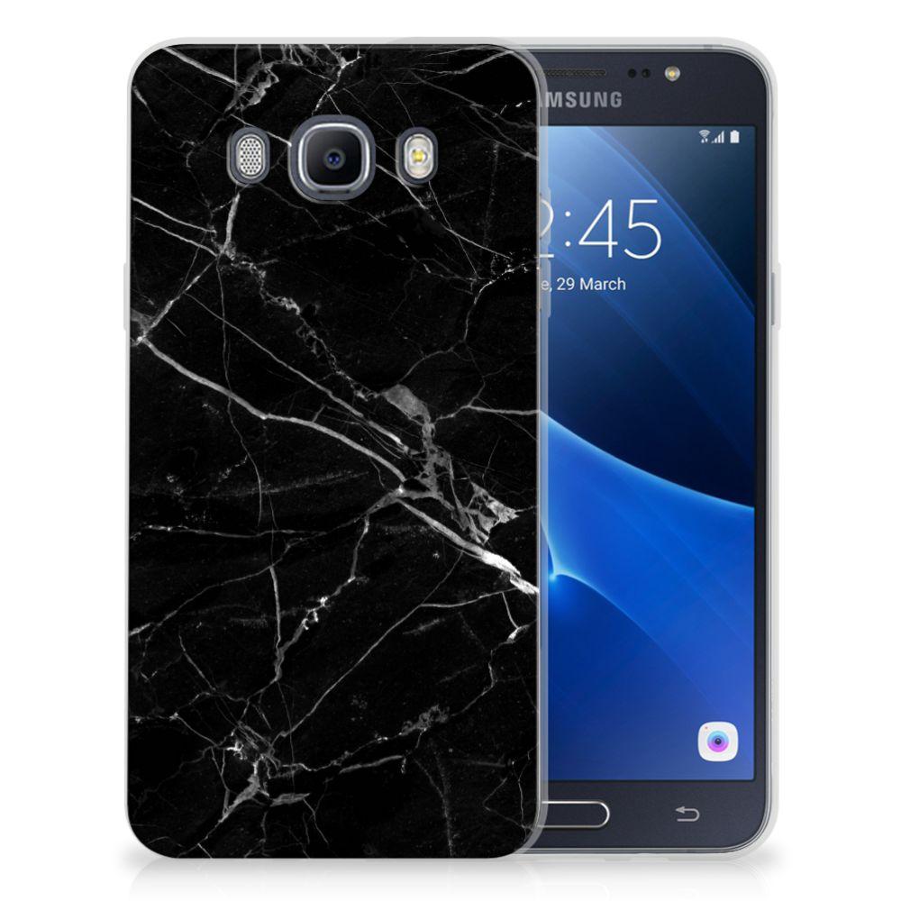 Samsung Galaxy J7 2016 TPU Siliconen Hoesje Marmer Zwart