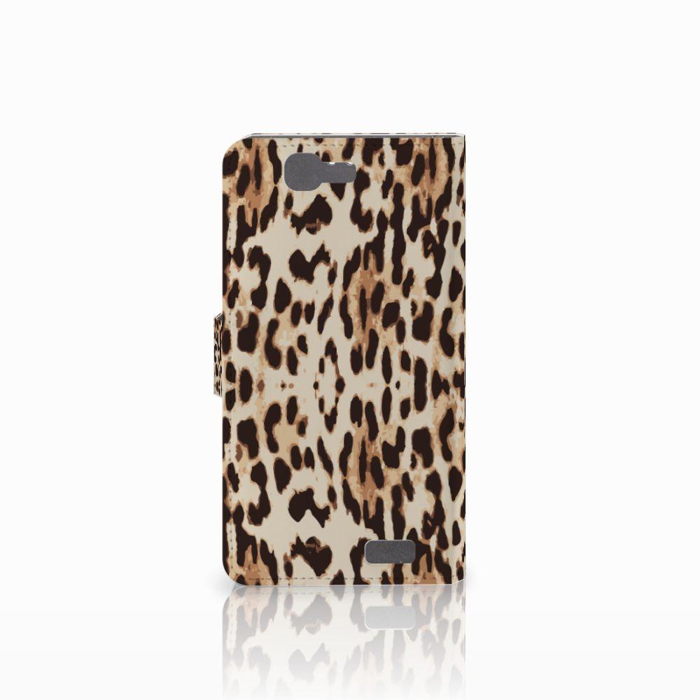 Huawei Ascend G7 Telefoonhoesje met Pasjes Leopard