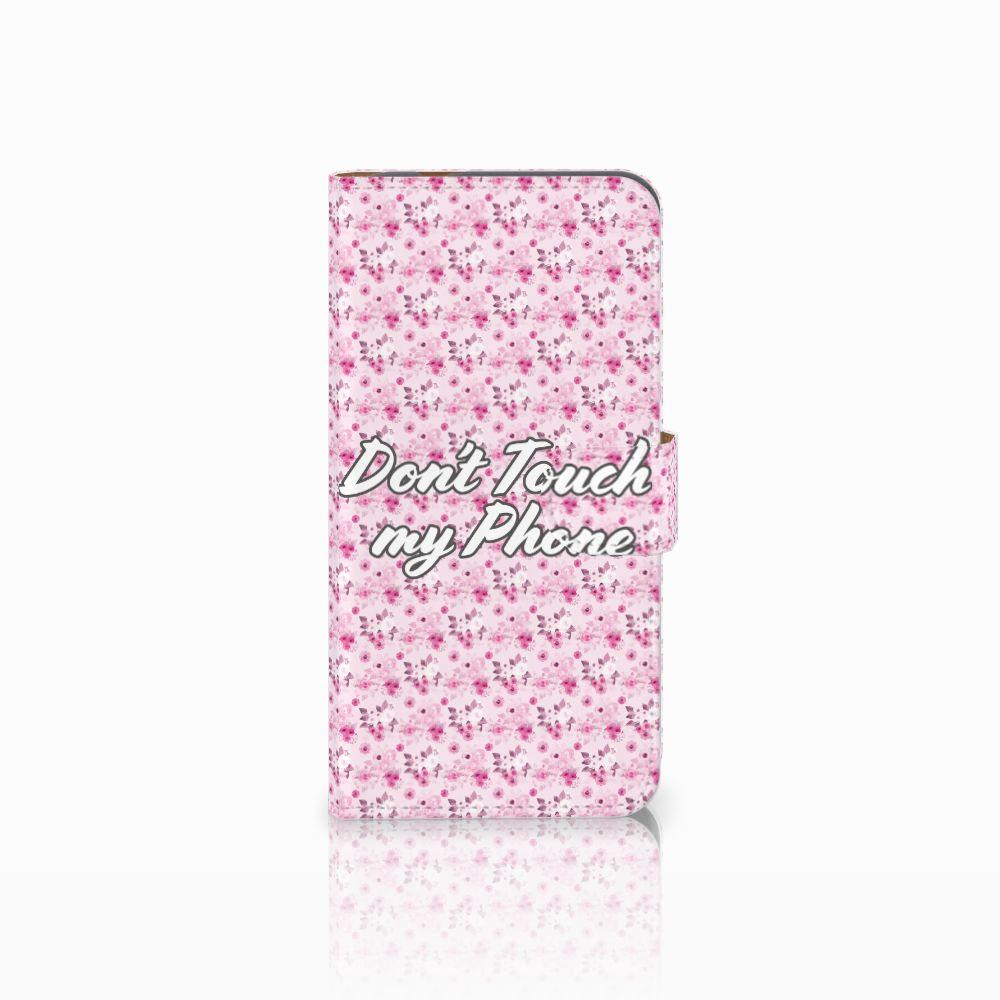 Huawei Nova Plus Uniek Boekhoesje Flowers Pink DTMP