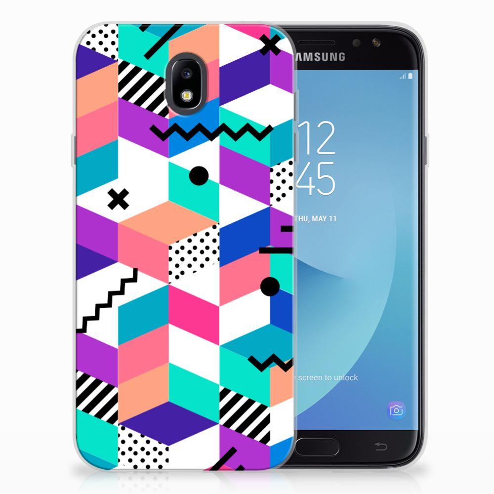 Samsung Galaxy J7 2017 | J7 Pro TPU Hoesje Blokken Kleurrijk