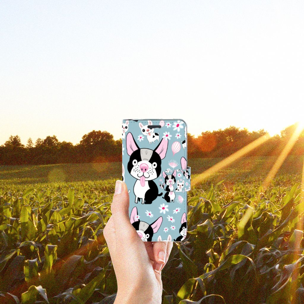 Acer Liquid Z520 Telefoonhoesje met Pasjes Hondjes