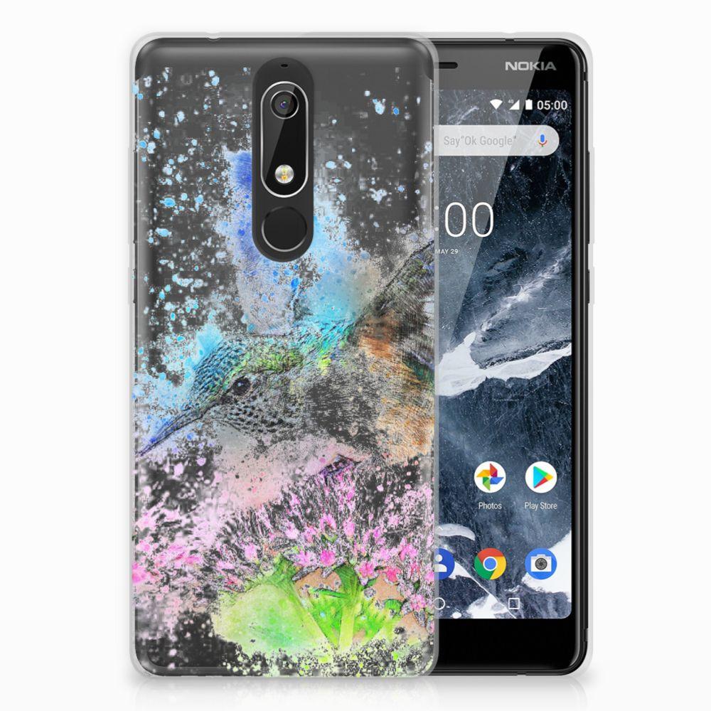 Nokia 5.1 (2018) TPU Hoesje Design Vogel