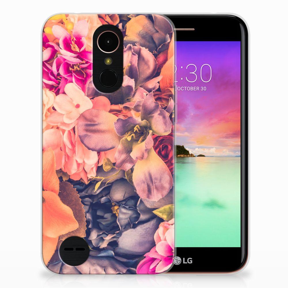 LG K10 2017 TPU Hoesje Design Bosje Bloemen
