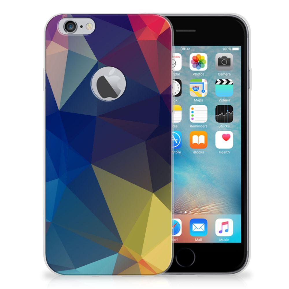 Apple iPhone 6 Plus | 6s Plus TPU Hoesje Polygon Dark