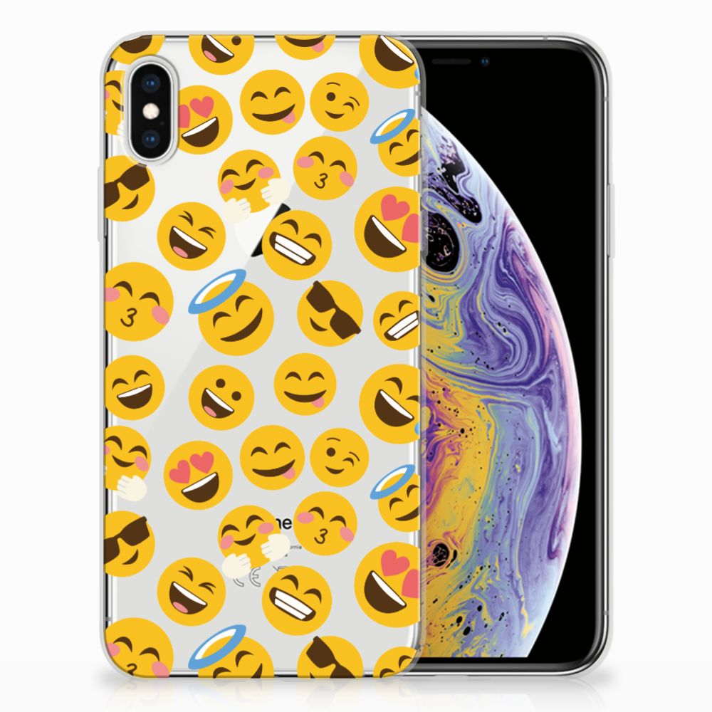 Apple iPhone Xs Max TPU Hoesje Design Emoji