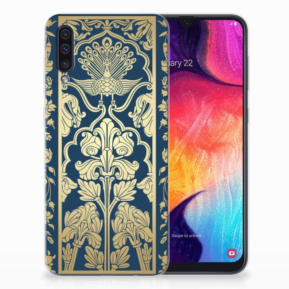 Samsung Galaxy A50 TPU Hoesje Golden Flowers