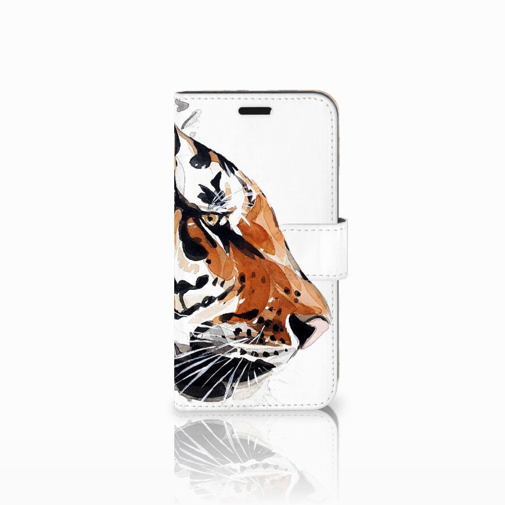 Huawei Nova Uniek Boekhoesje Watercolor Tiger