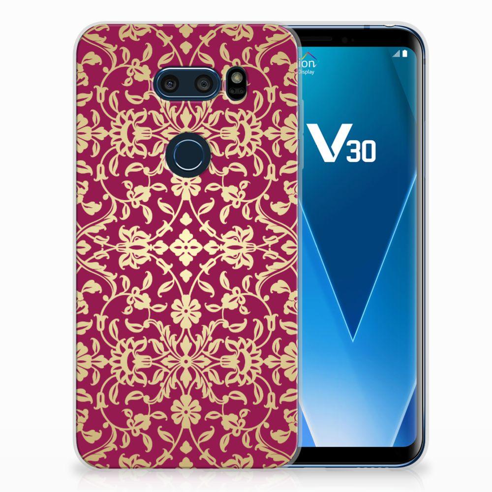 LG V30 TPU Hoesje Design Barok Pink