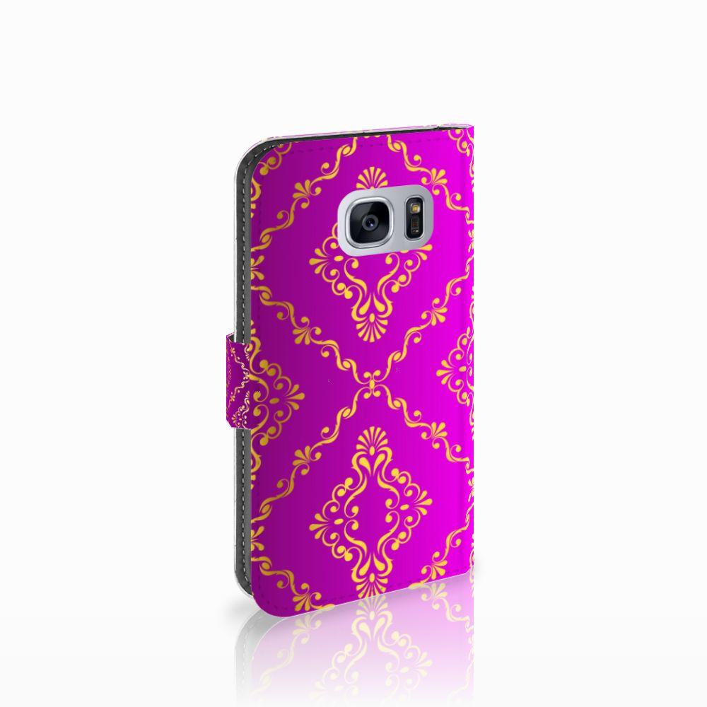Samsung Galaxy S7 Uniek Boekhoesje Barok Roze