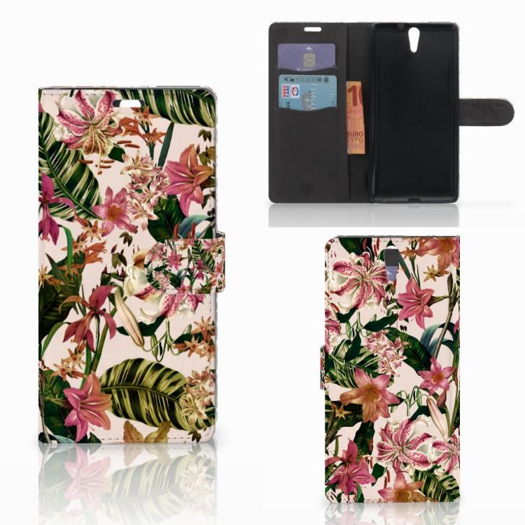 Sony Xperia C5 Ultra Hoesje Flowers
