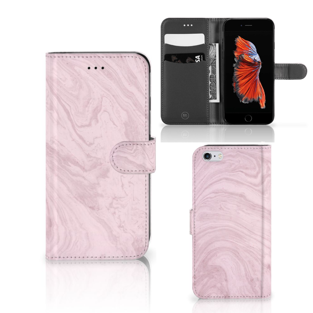 Apple iPhone 6 Plus | 6s Plus Bookcase Marble Pink