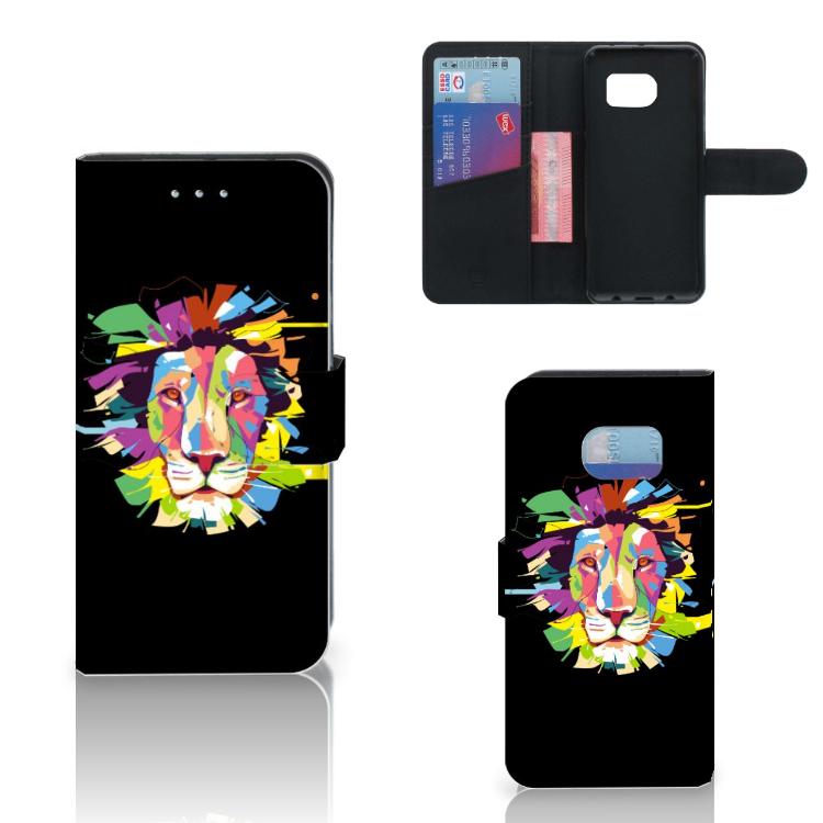 Samsung Galaxy S6 Edge Leuk Hoesje Lion Color