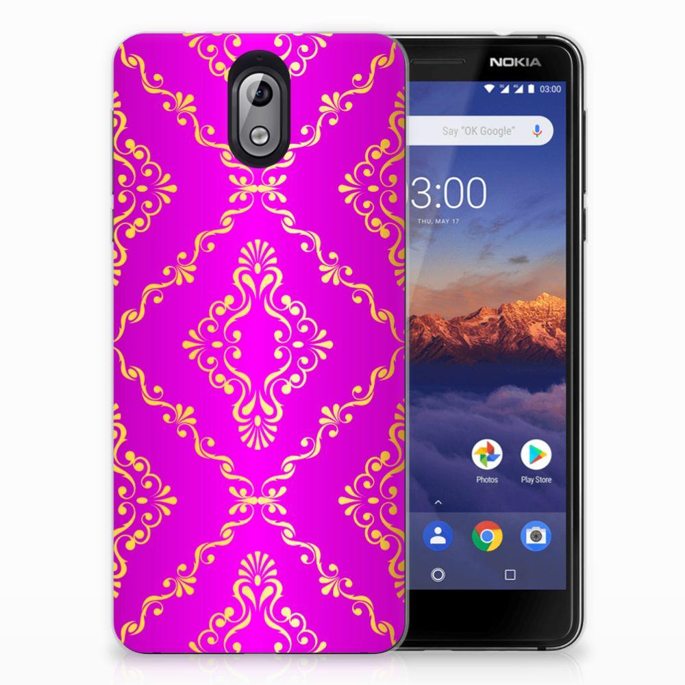 Siliconen Hoesje Nokia 3.1 (2018) Barok Roze