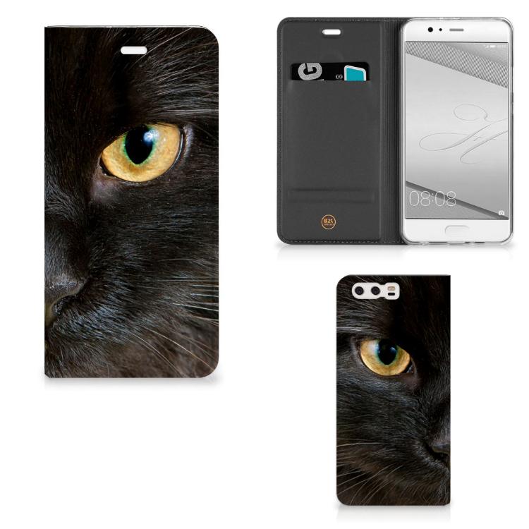 Huawei P10 Plus Hoesje maken Zwarte Kat