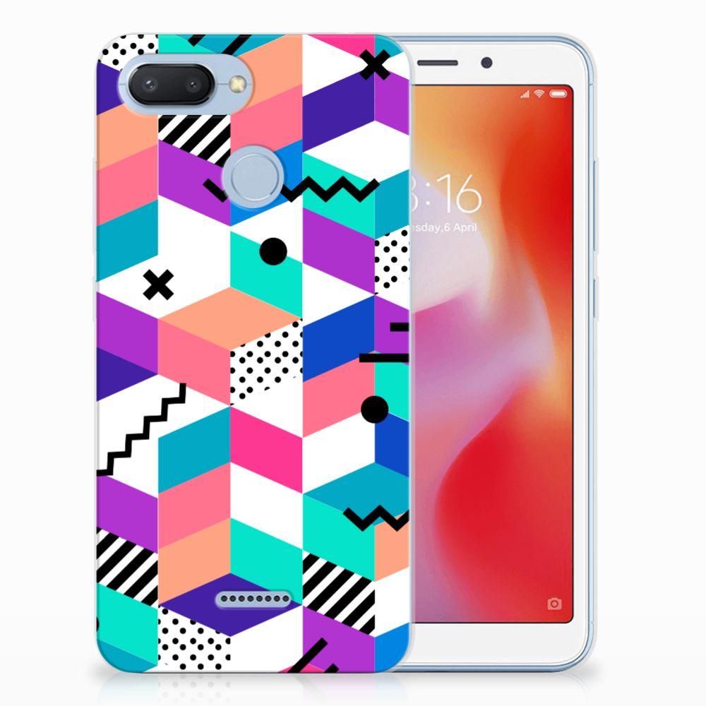 Xiaomi Redmi 6 TPU Hoesje Blokken Kleurrijk