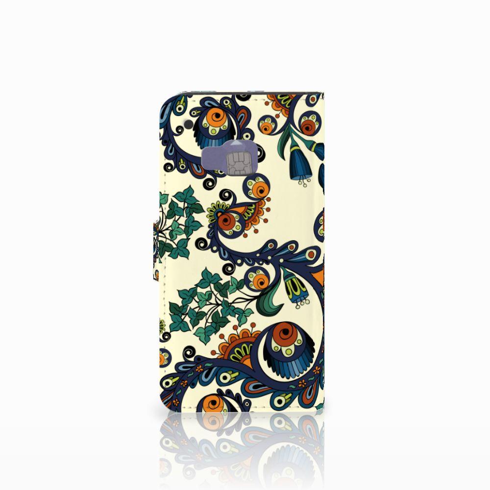 Wallet Case HTC One M9 Barok Flower