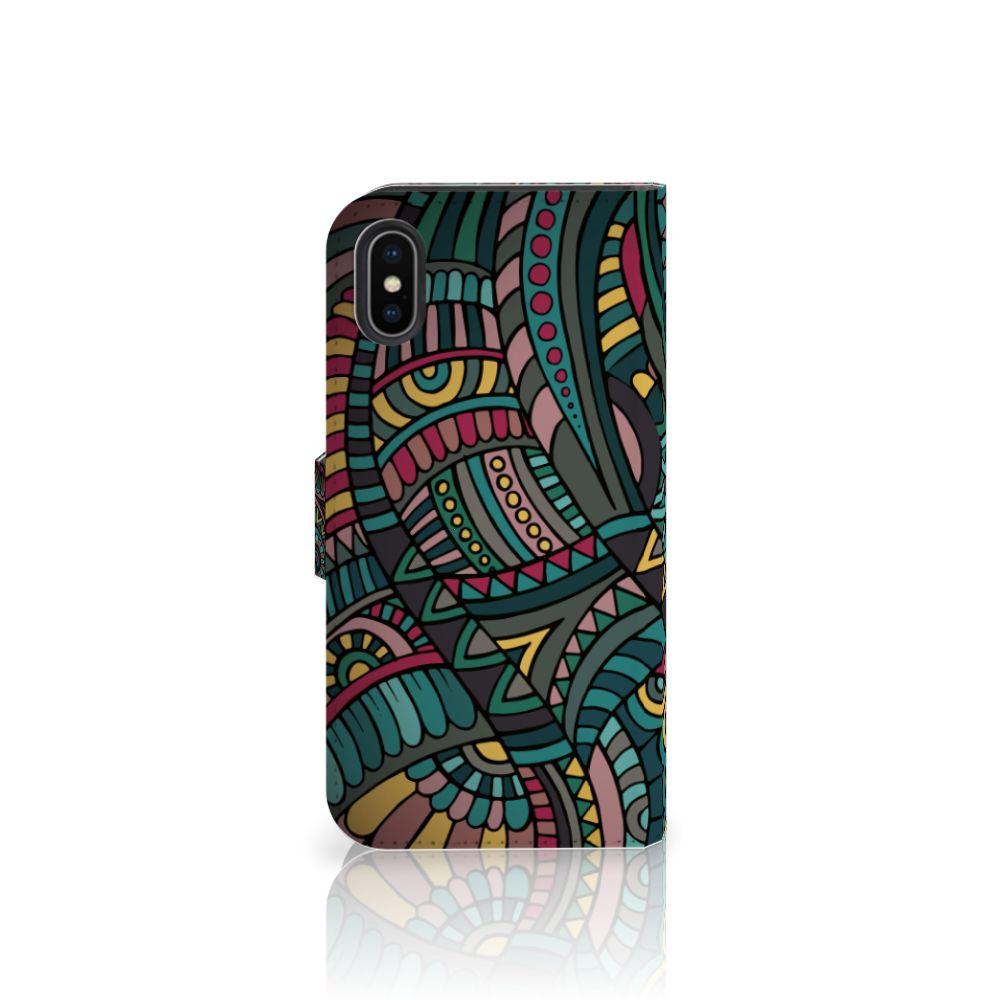 Apple iPhone X   Xs Telefoon Hoesje Aztec