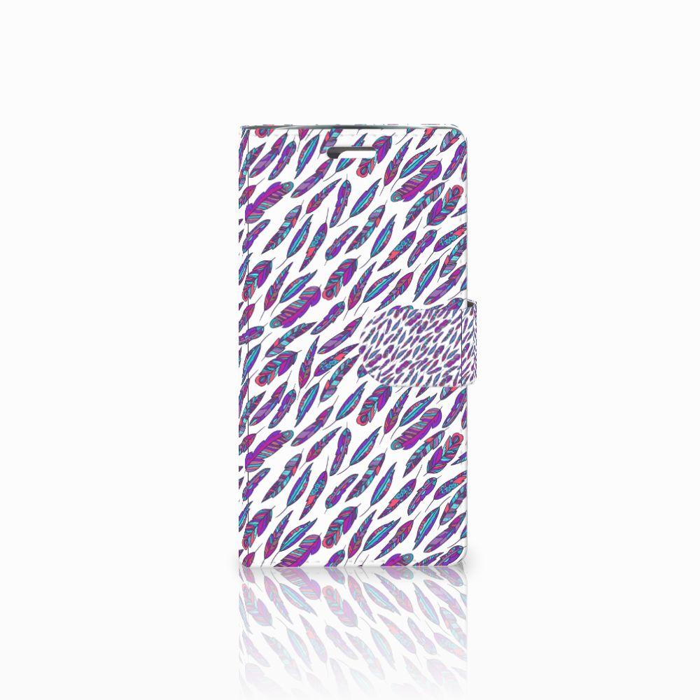 LG K10 2015 Boekhoesje Design Feathers Color