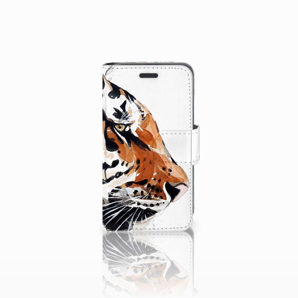 Nokia Lumia 520 Uniek Boekhoesje Watercolor Tiger