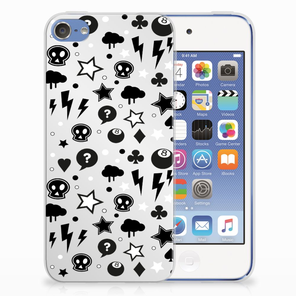 Apple iPod Touch 5 | 6 Uniek TPU Hoesje Silver Punk