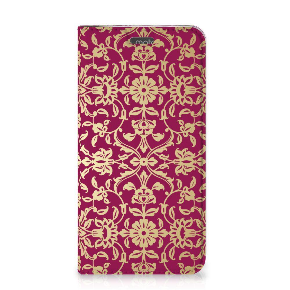 Telefoon Hoesje Motorola Moto G5S Plus Barok Pink