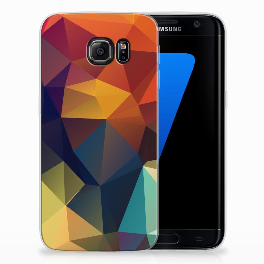 Samsung Galaxy S7 Edge TPU Hoesje Design Polygon Color