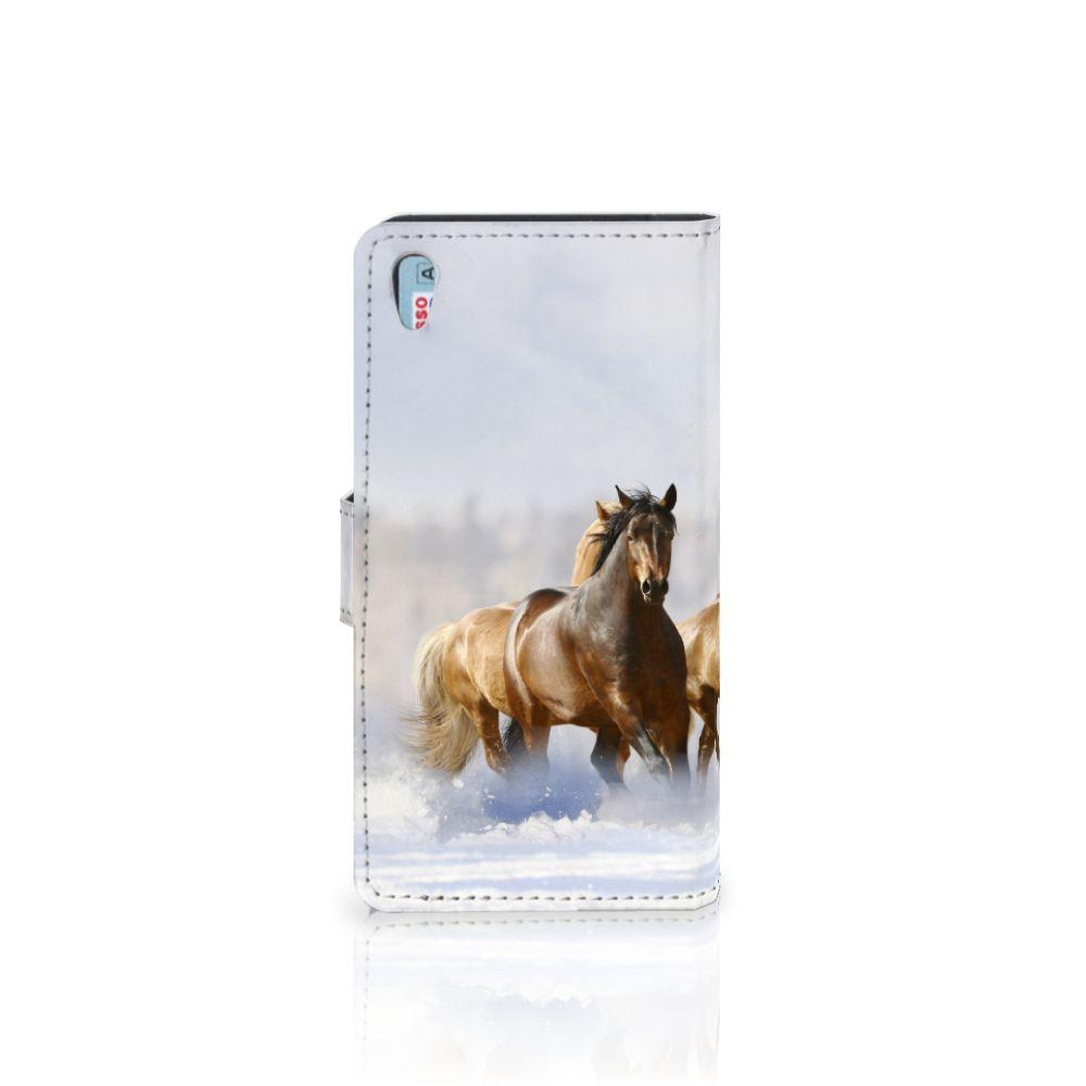 Sony Xperia Z5 | Z5 Dual Telefoonhoesje met Pasjes Paarden