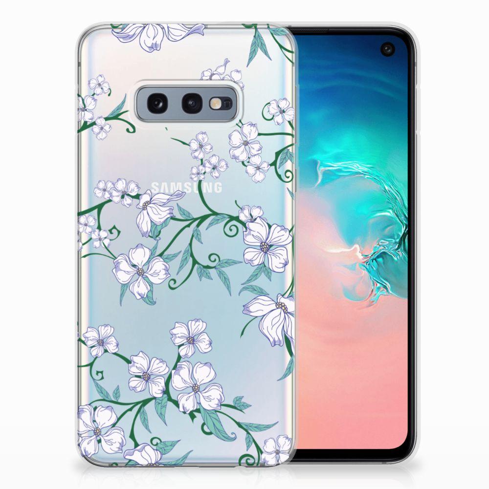 Samsung Galaxy S10e Uniek TPU Hoesje Blossom White