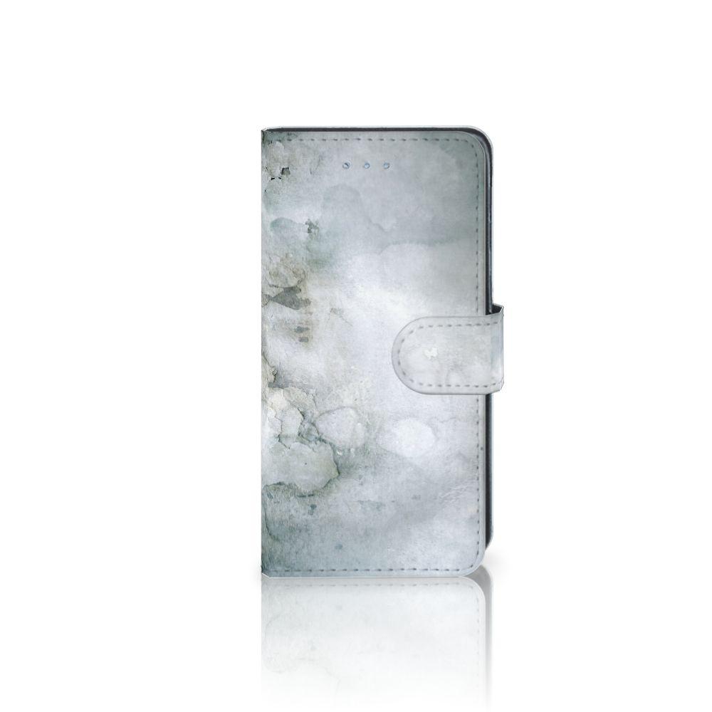 Samsung Galaxy J3 2016 Uniek Boekhoesje Painting Grey