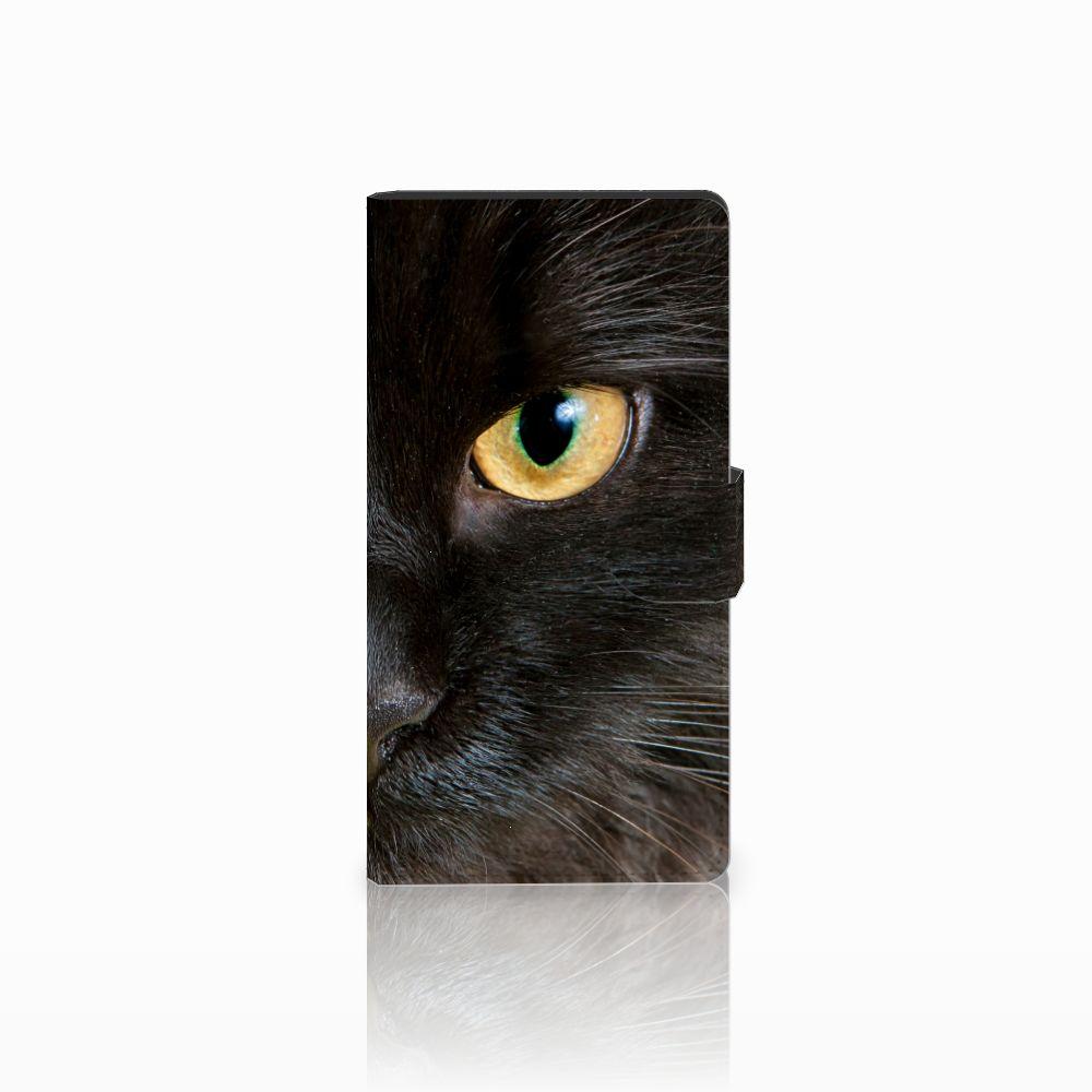 Sony Xperia C4 Uniek Boekhoesje Zwarte Kat