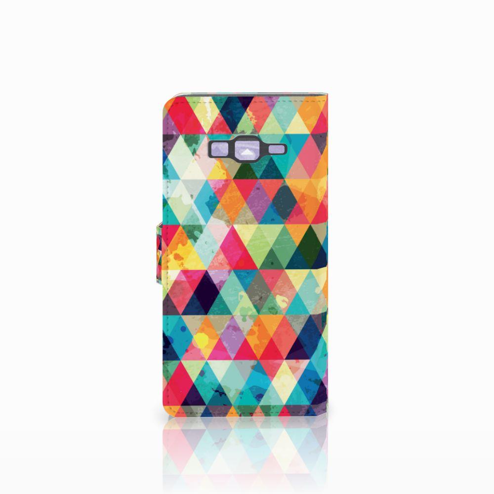 Samsung Galaxy Grand Prime   Grand Prime VE G531F Telefoon Hoesje Geruit