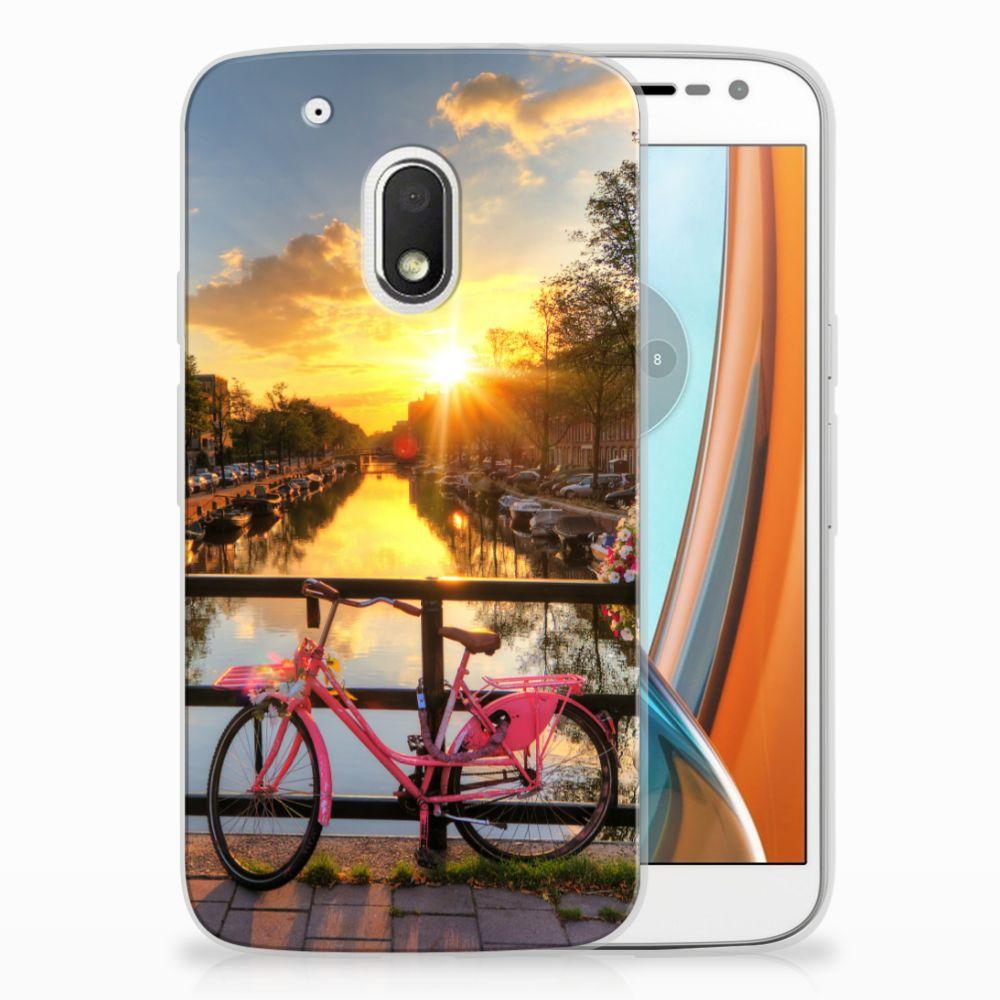 Motorola Moto G4 Play Uniek TPU Hoesje Amsterdamse Grachten