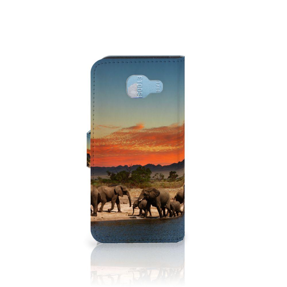 Samsung Galaxy A5 2016 Telefoonhoesje met Pasjes Olifanten