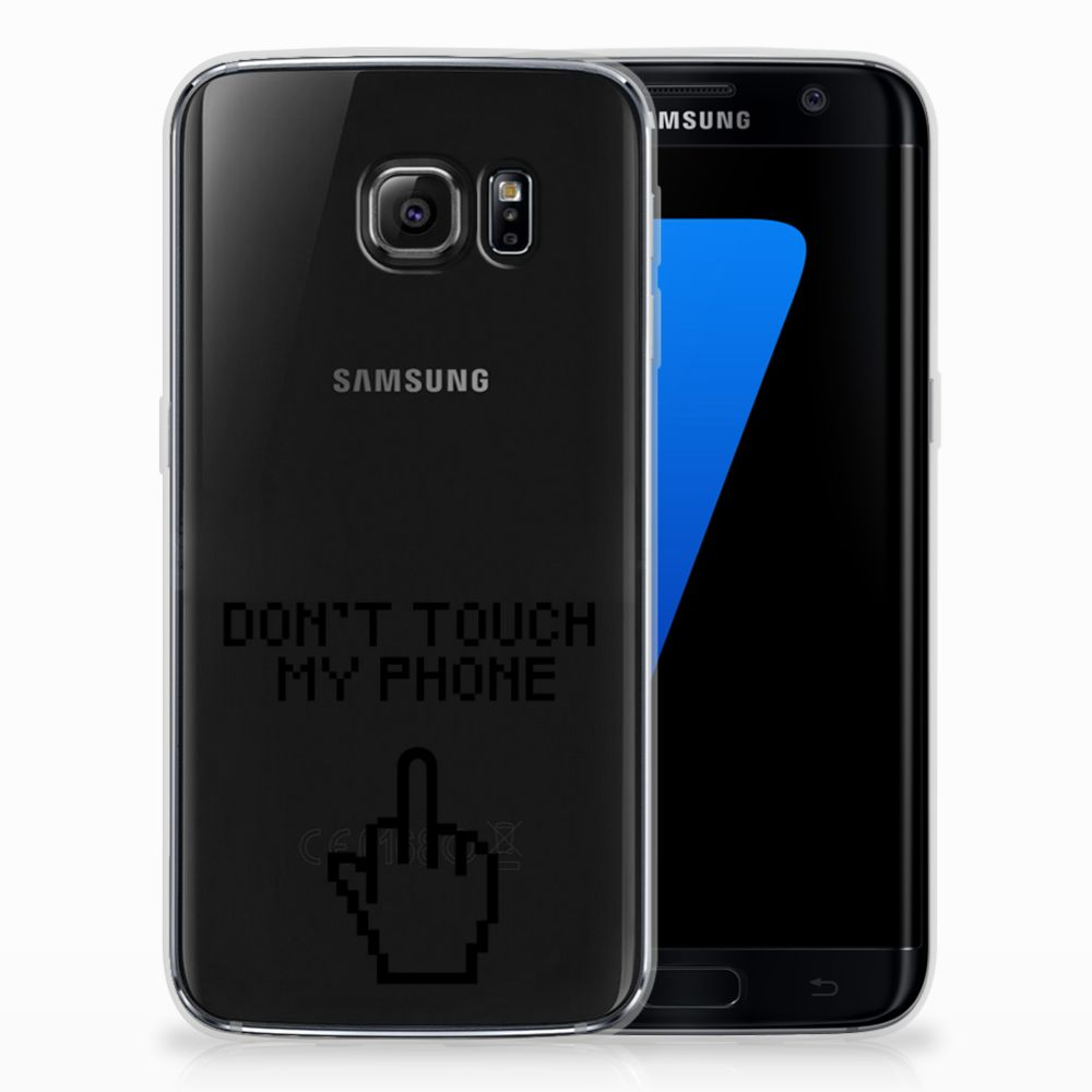 Samsung Galaxy S7 Edge Uniek TPU Hoesje Finger DTMP