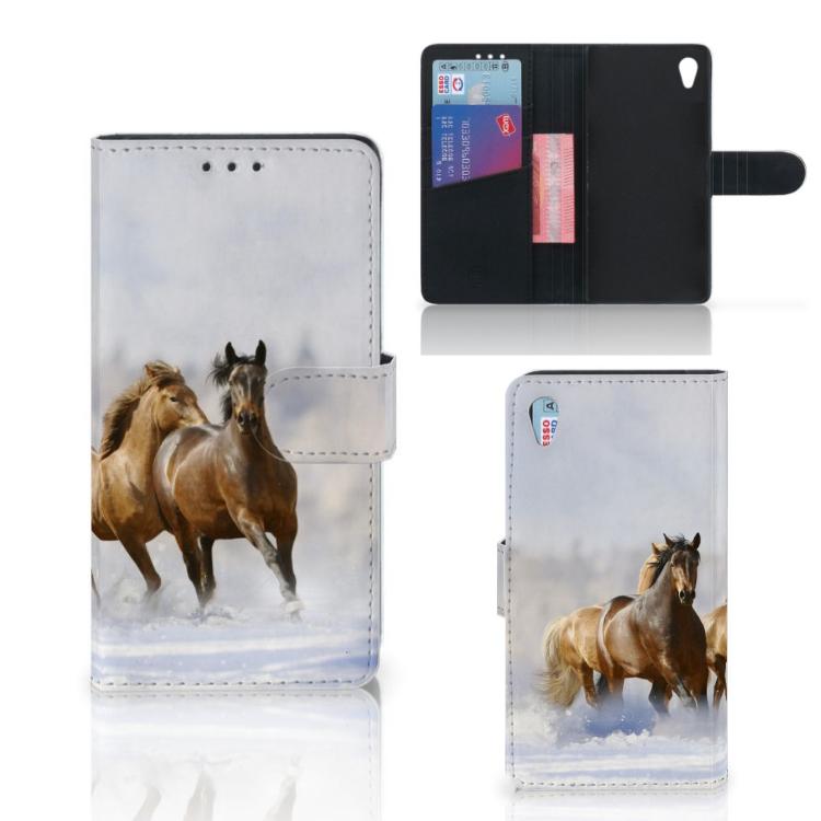 Sony Xperia Z3 Telefoonhoesje met Pasjes Paarden
