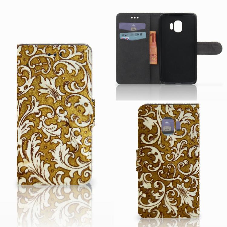 Wallet Case Samsung Galaxy J2 Pro 2018 Barok Goud