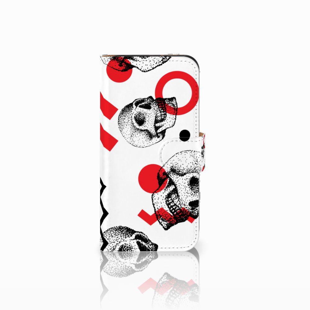 HTC One Mini 2 Boekhoesje Design Skull Red