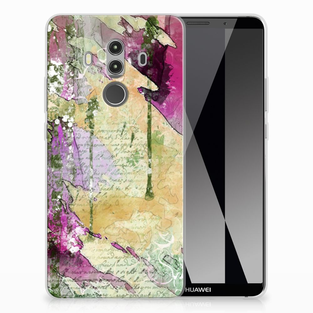 Huawei Mate 10 Pro Uniek TPU Hoesje Letter Painting