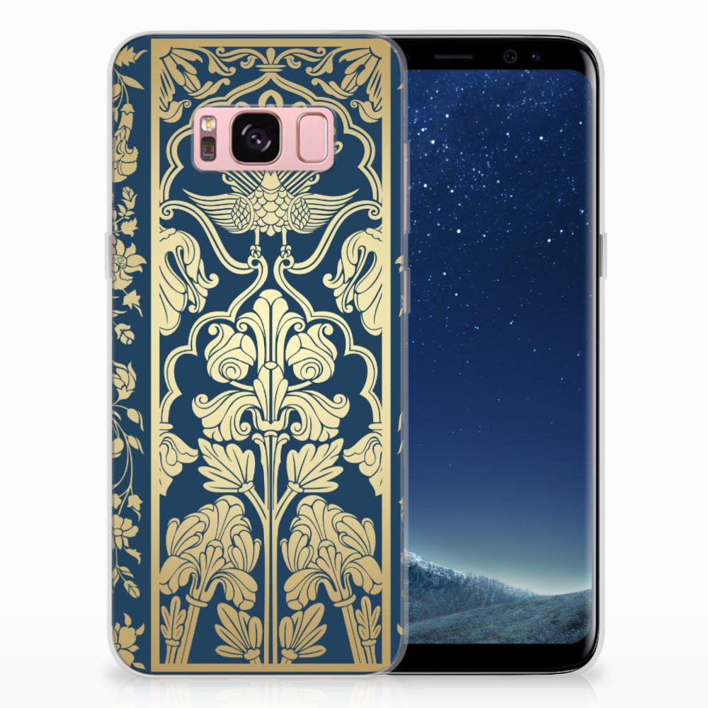 Samsung Galaxy S8 TPU Hoesje Golden Flowers