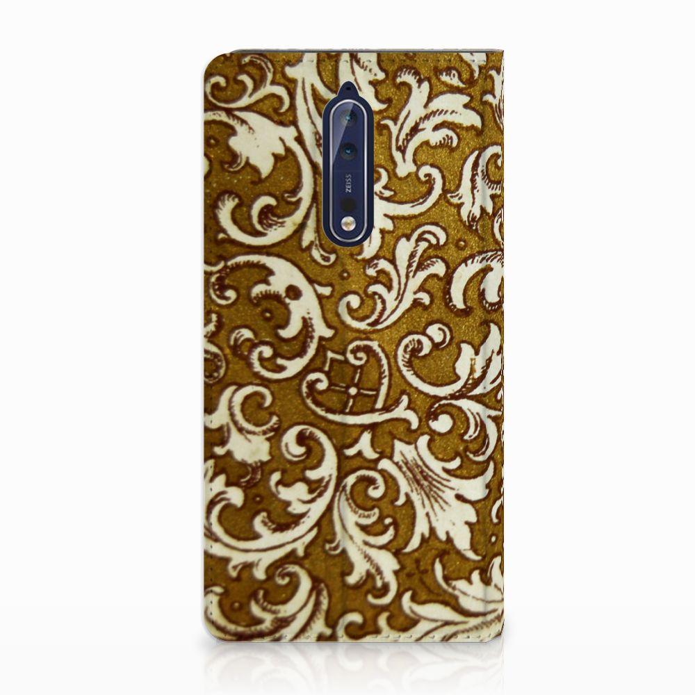 Telefoon Hoesje Nokia 8 Barok Goud