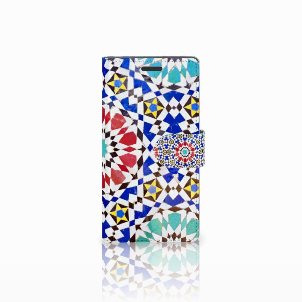 Nokia Lumia 830 Uniek Hoesje met Opbergvakjes Mozaïek