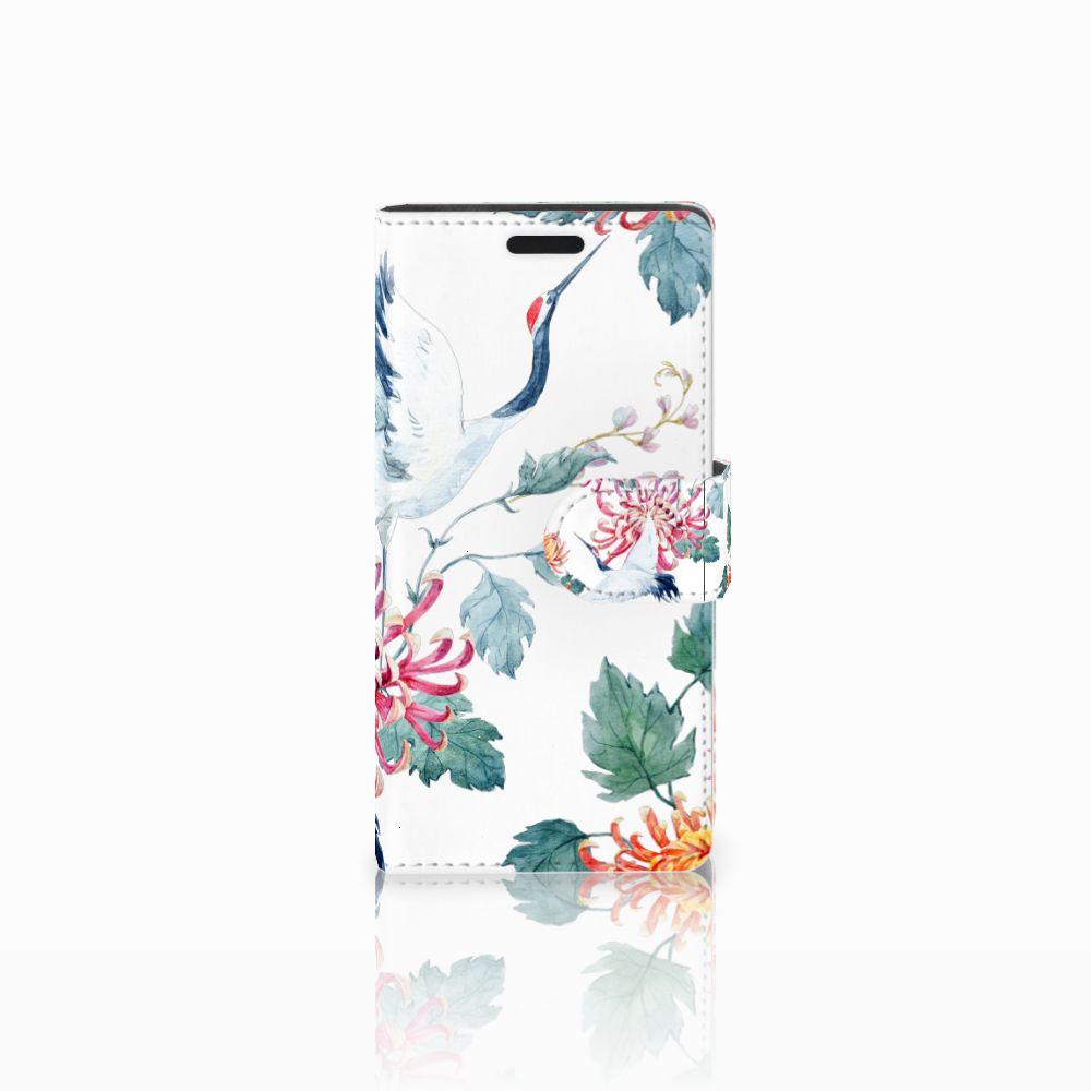 LG Leon 4G Uniek Boekhoesje Bird Flowers