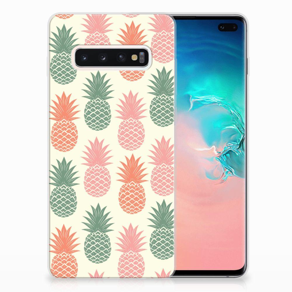 Samsung Galaxy S10 Plus Siliconen Case Ananas