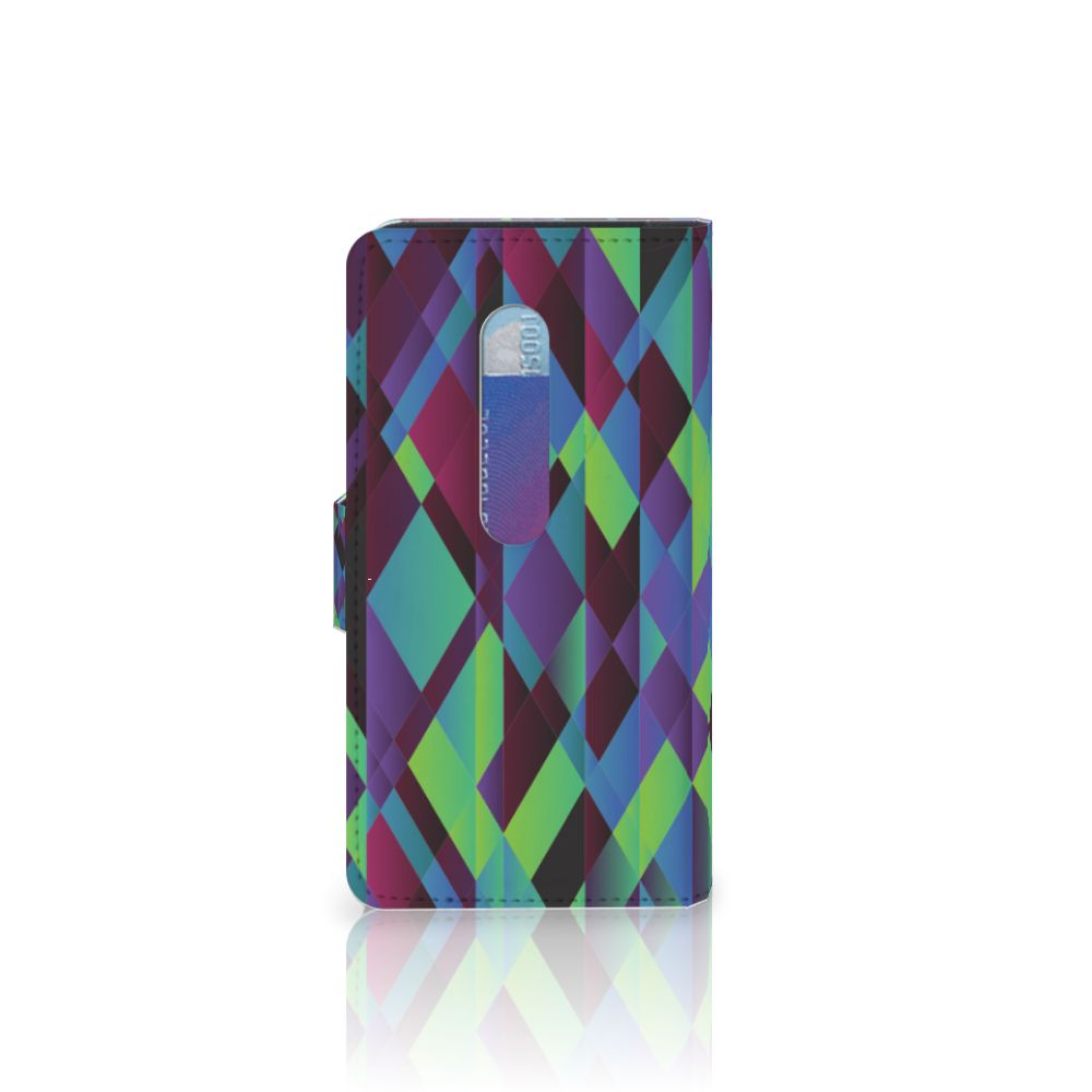 Motorola Moto G 3e Generatie Bookcase Abstract Green Blue