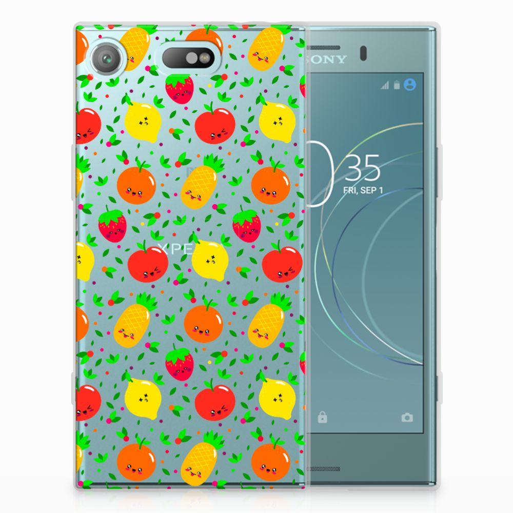 Sony Xperia XZ1 Compact Siliconen Case Fruits